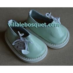 CHAUSSURES HAVERL WAGNER EN CUIR MENTHE - chaussures de poupées
