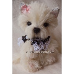 PELUCHE WESTIE NOEUD - peluche de collection