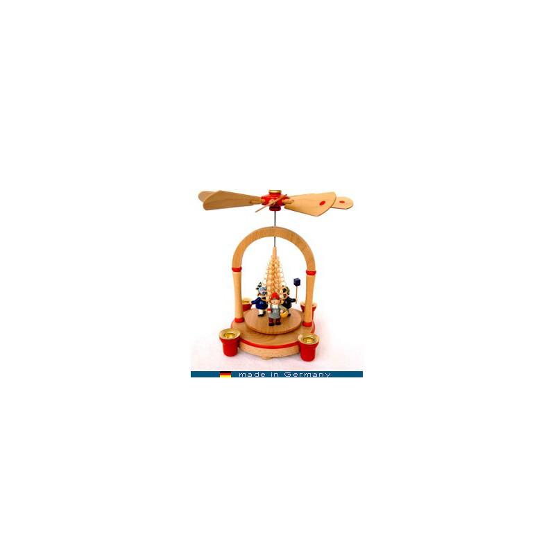 DECO MAISON PETITE PYRAMIDE NATURE - jouet de collection en bois