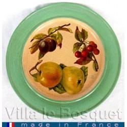 DECO MAISON ASSIETTE FRUITS - objet de décoration en bois