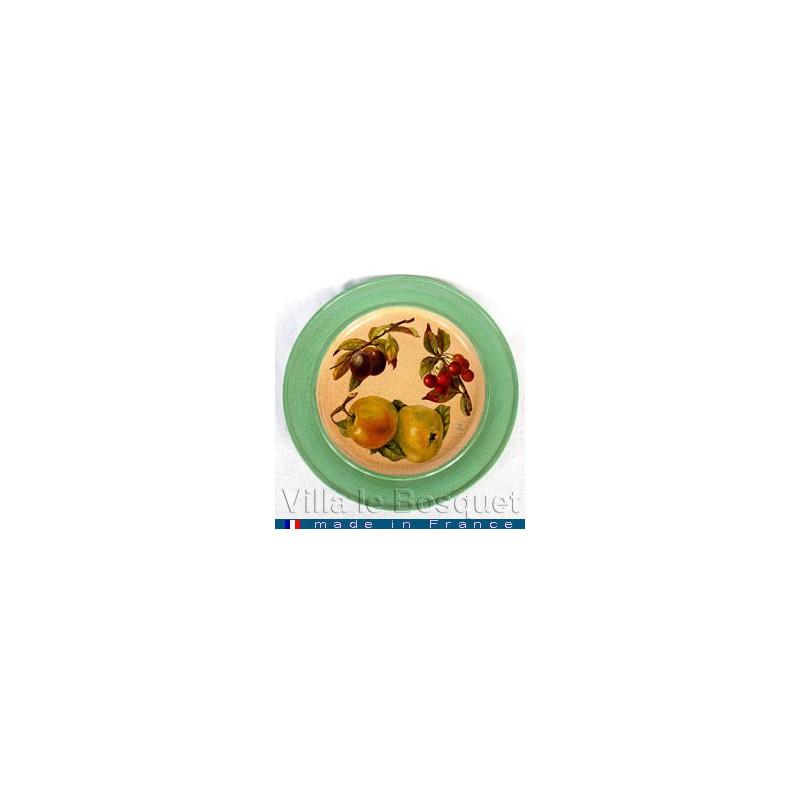 deco maison assiette fruits objet de d233coration en bois