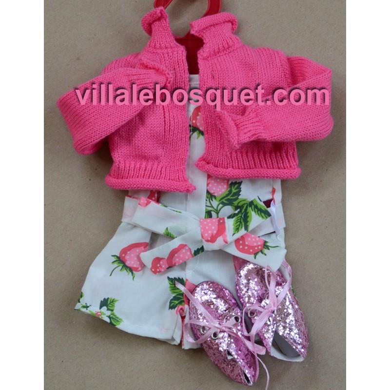 GÖTZ COMBINAISON FRAISES - vêtement Götz pour poupées
