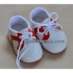 BASKETS R/B POUR POUPEES jusqu'à 50 cm - chaussures de poupées