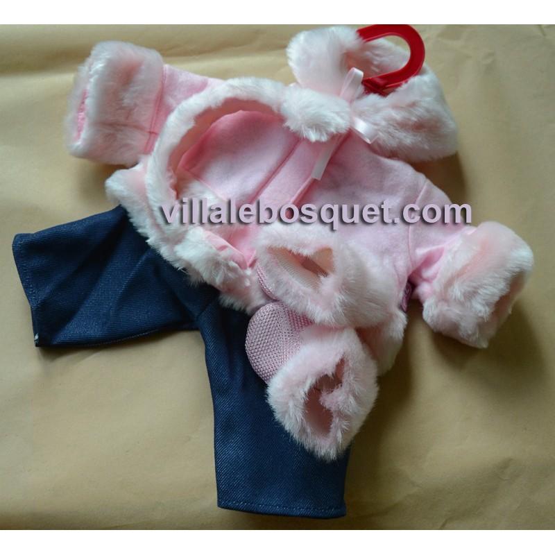 VETEMENT BEBE ROSE-HIVER - vêtement Götz pour poupons