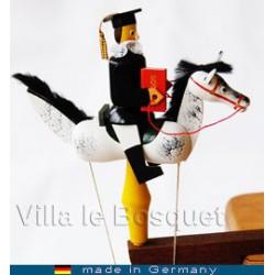 DECO MAISON CAVALIER A PENDULE AVOCAT - cadeau jouet en bois