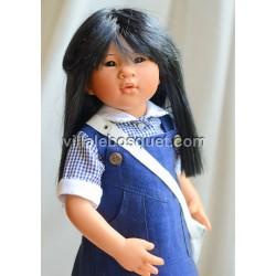 POUPEE MÜLLER WICHTEL MICHELLE - poupée de collection de Rosemarie Müller