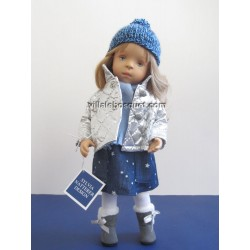 LA MINOUCHE ANNE - Poupée peinte par Sylvia Natterer-Studio doll