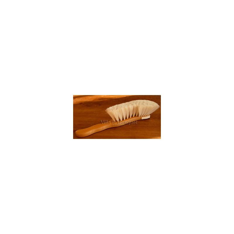 BROSSE A POUSSIERE - brosse en bois aux poils de chèvre