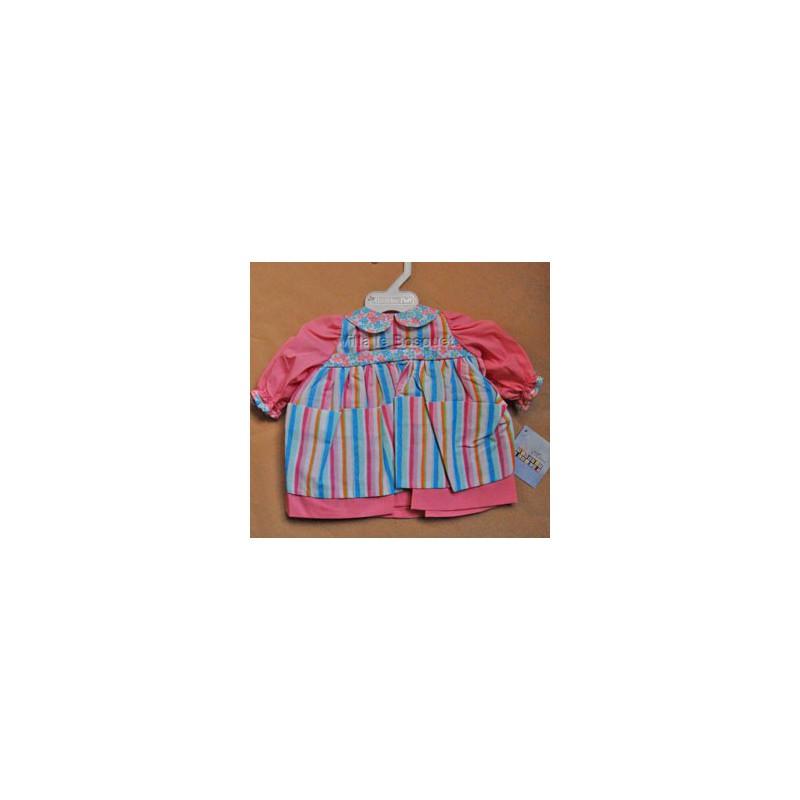 VETEMENT POUPEE ROBE-TABLIER - vêtement pour poupon