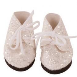 GÖTZ SOULIERS ARGENTES POUR POUPEES - chaussures Götz pour poupées