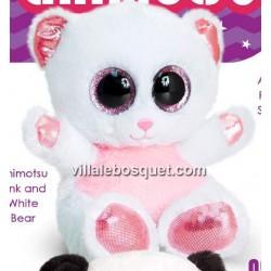 PELUCHE ANIMOTSU OURSON BLANC - peluche de Keel Toys