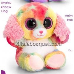 PELUCHE ANIMOTSU CHIEN ARC EN CIEL - peluche de Keel Toys