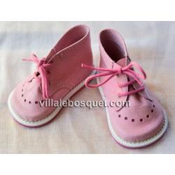 BOOTS ROSES POUR POUPEES ZWERGNASE - chaussures de poupées