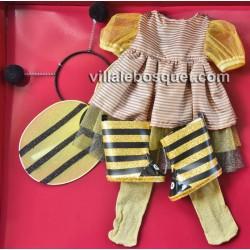 GÖTZ ROBE ENSEMBLE ABEILLE - vêtement Götz pour poupées