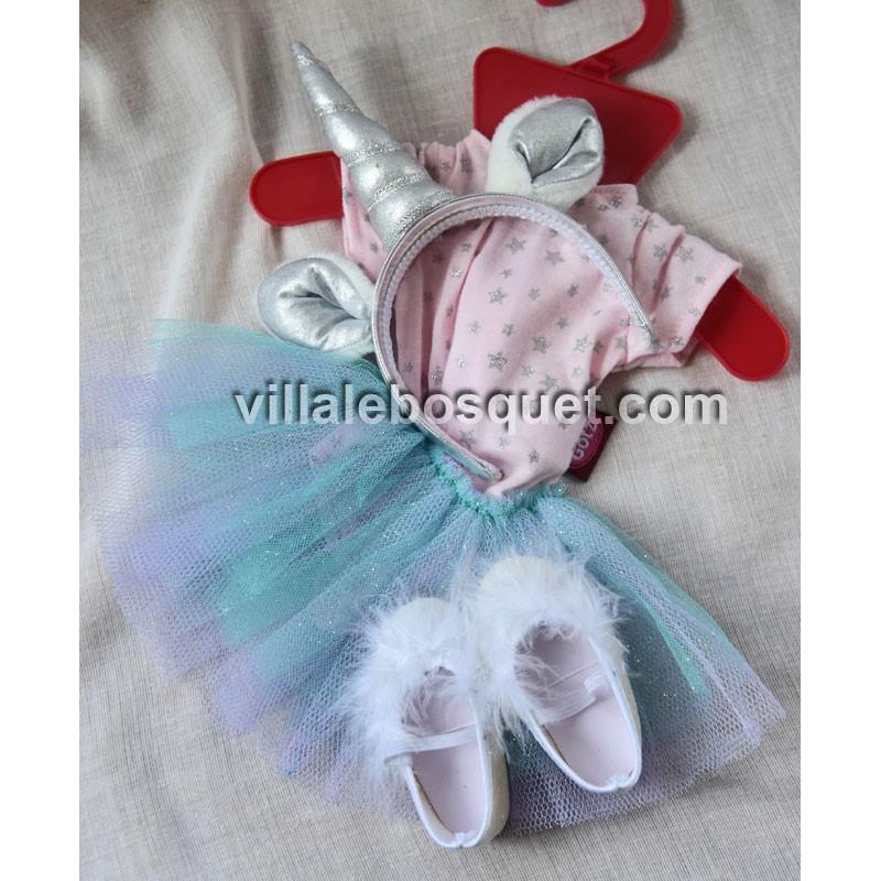 GÖTZ ENSEMBLE LICORNE - vêtement Götz pour poupées