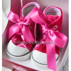 GÖTZ BASKETS ROSES POUR POUPEES - chaussures Götz pour poupées