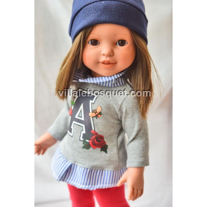 POUPEE PREPPY GIRL AMBER - poupée à jouer The Preppy & Endisa
