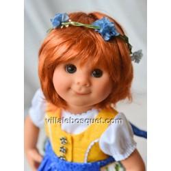 POUPEE MÜLLER WICHTEL EMILIA - poupée de collection de Rosemarie Müller