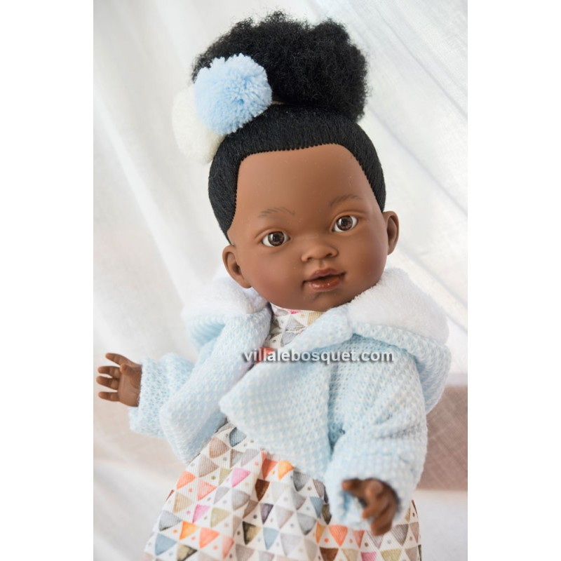 LLORENS POUPEE VALERIA AFRICAINE 18 - poupée réaliste à jouer Llorens