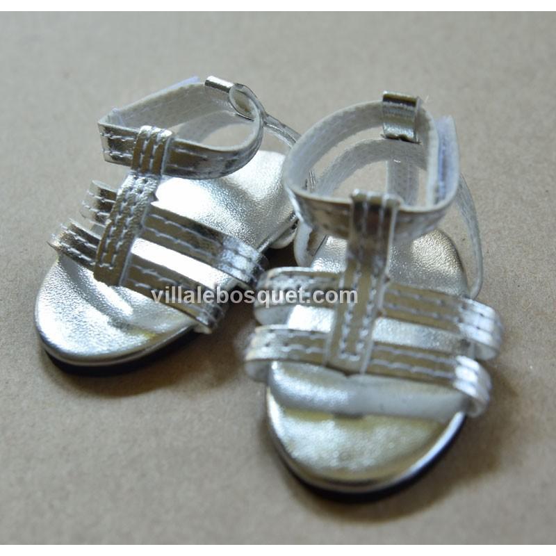 FINOUCHE SANDALES ARGENTEES - chaussures de poupée