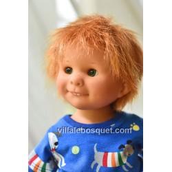 POUPEE MÜLLER WICHTEL RUDI - poupée de collection de Rosemarie Müller