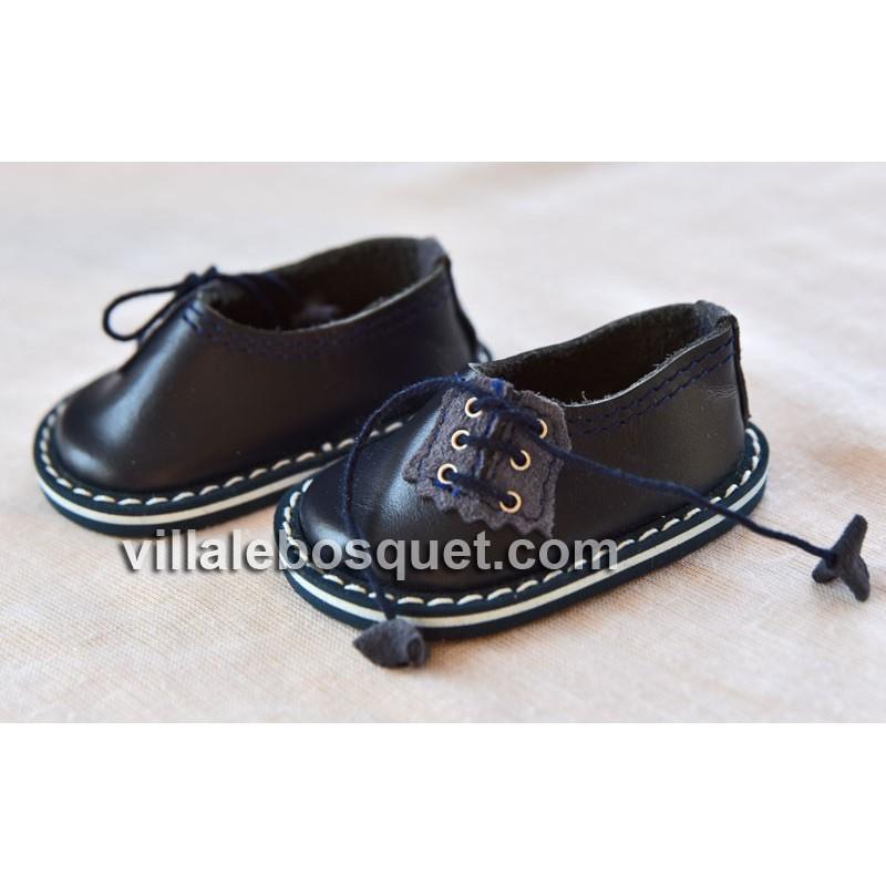 CHAUSSURES HAVERL WAGNER EN CUIR ROUGE - chaussures de poupées
