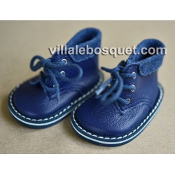 CHAUSSURES WAGNER EN CUIR BLANC BOOTS  - chaussures de poupées