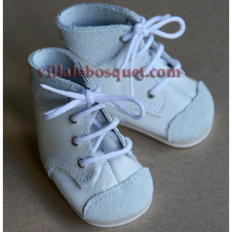 BOTTILLONS WAGNER EN CUIR ORANGE - chaussures de poupées