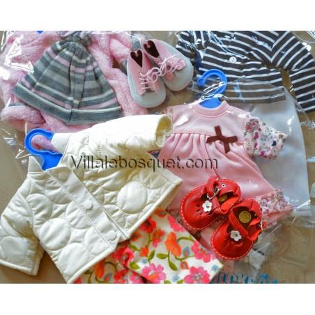 Vêtements, chaussures et accessoires pour les poupées Müller Wichtel.
