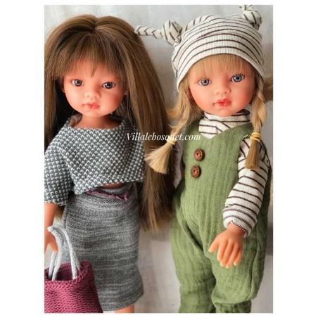 Les poupées à jouer Emily et Bella par Antonio Juan, fabriquées en Espagne.