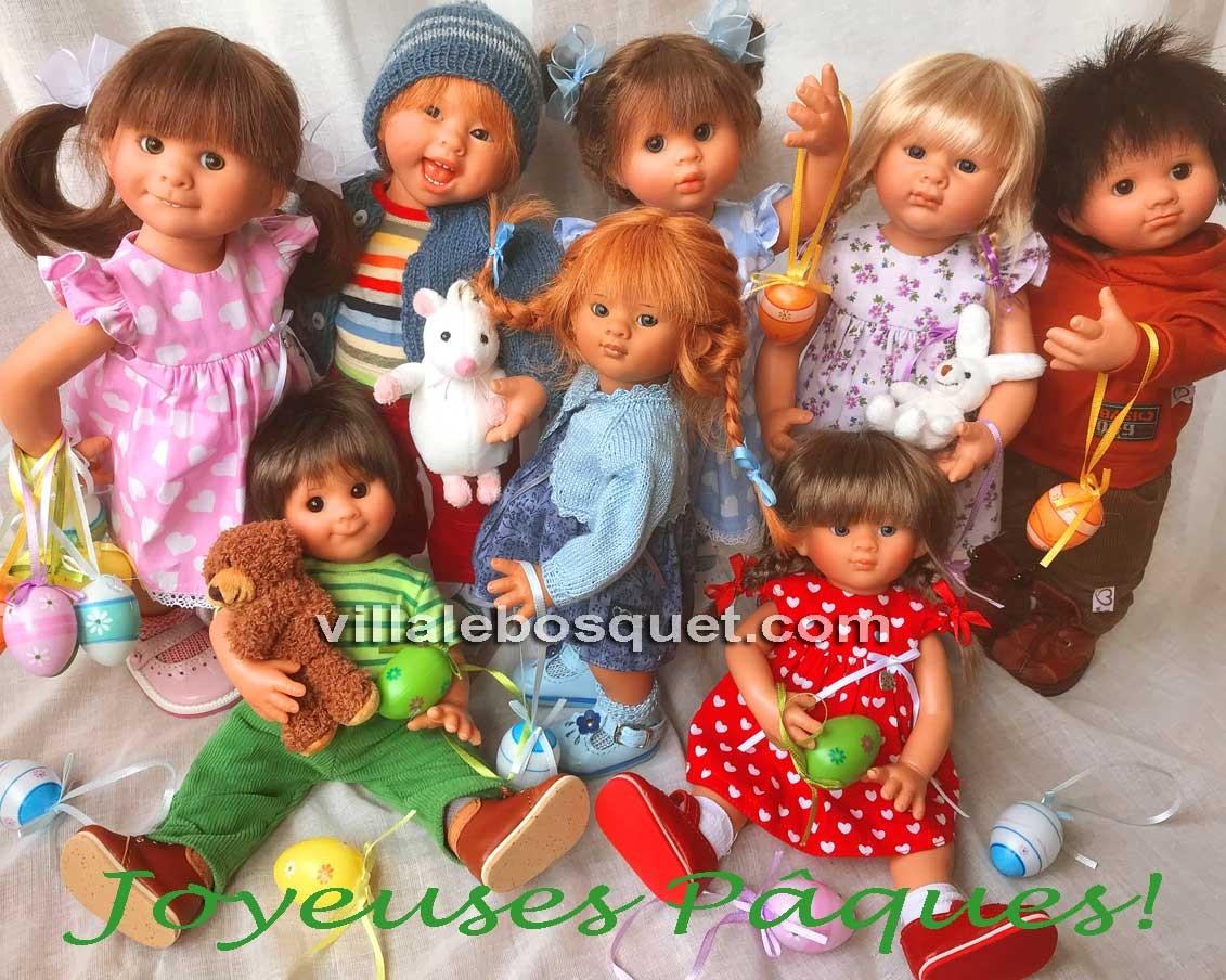 Un grand choix des poupées uniques Müller Wichtel de Rosemarie Müller!