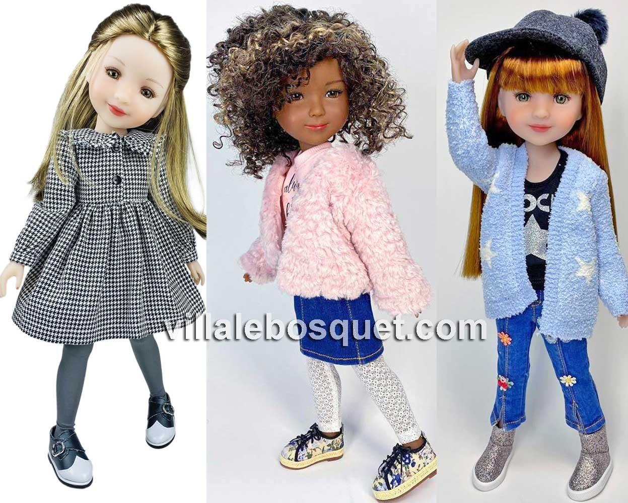 Charlotte, Maya et Stella des Fashion Friends de Ruby Red sont à la Villalebosquet.com