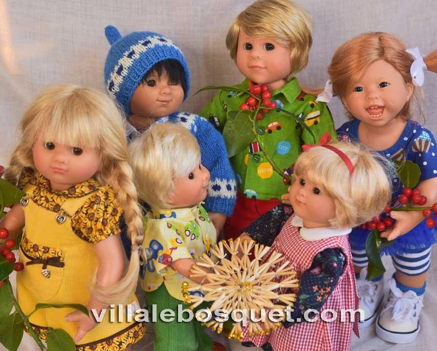 Superbes poupées uniques Müller Wichtel!