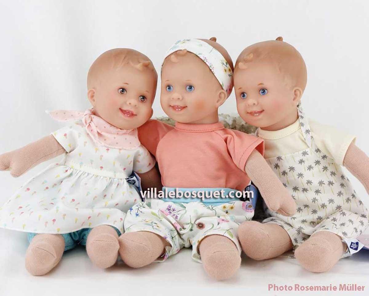 Löckchen, adorable poupée 1er âge de Rosemarie Müller pour Schildkröt est sur notre site !